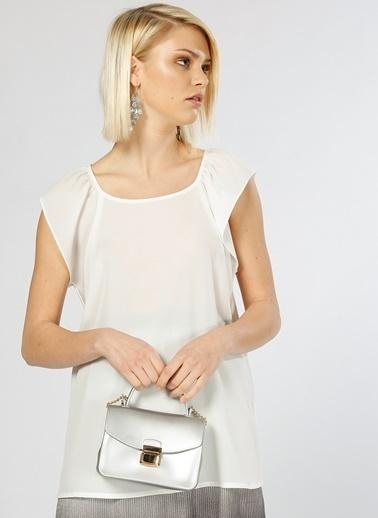 Beymen Studio Beymen Studio Şifon Beyaz  Bluz Beyaz